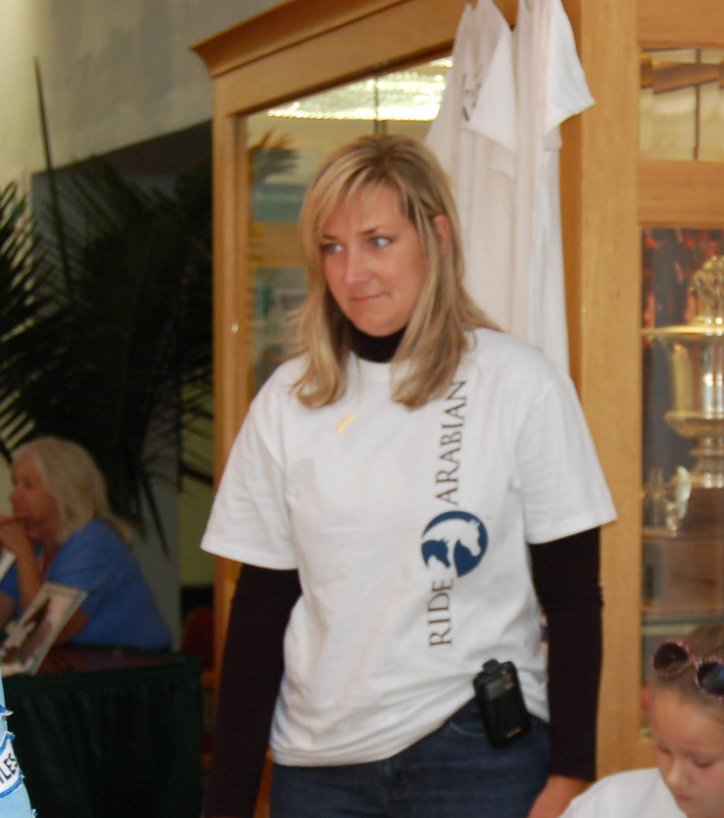 Heather volunteering at WEG
